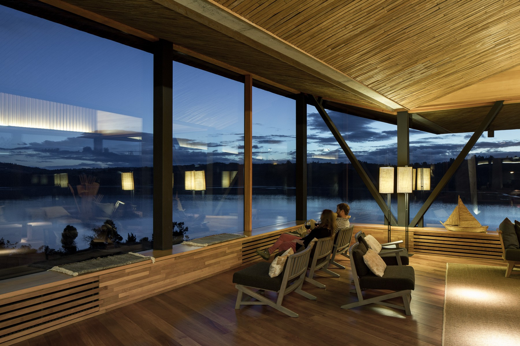 Hotel Tierra Chiloe Lounge Sunset